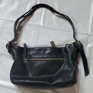 Coach Black leather adjustable strap shoulder bag